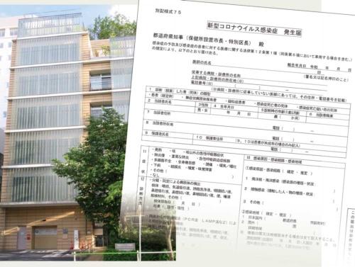 図 東京・港区のみなと保健所と新型コロナウイルス感染症発生届