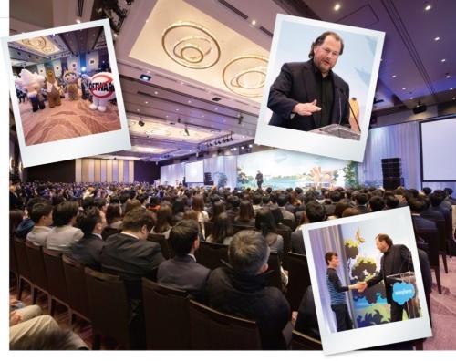 2019年4月に開催した「Salesforce 創業20周年スペシャルイベント」で、マーク・ベニオフ会長兼CEOは日本事業の強化を表明した(写真提供:セールスフォース・ドットコム)
