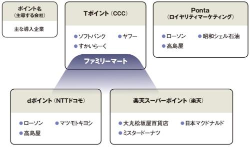 図 共通ポイントの勢力図