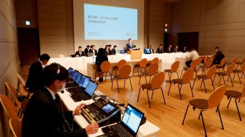 写真 「バーチャル株主総会」として2020年3月に開催したブイキューブの定時株主総会