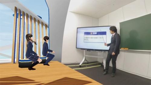 写真 N高等学校およびS高等学校が2021年4月から始めるVR授業のイメージ