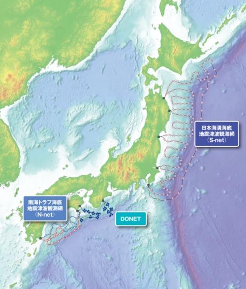 図 東日本大震災以降に整備・計画された海底地震津波観測網