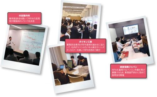 図 RPAの発展を見据えて先進企業が実施するイベントの例