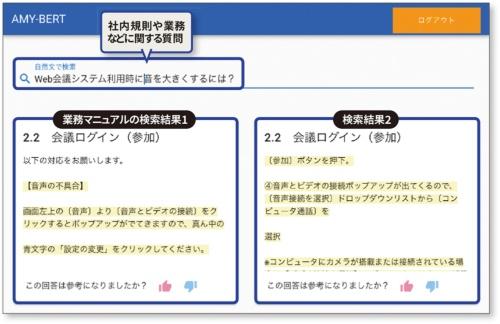 図 JCBがPoCに用いた文書検索システムの画面