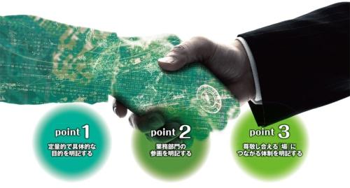 図 開発ベンダーとアジャイル開発の委託契約を結ぶ際に重要となる3つのポイント