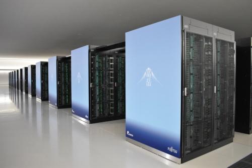 理化学研究所と富士通が共同開発したスーパーコンピューター「富岳」(写真提供:理化学研究所)
