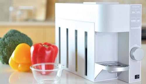 図 クックパッドが開発したレシピ連動型調味料サーバーとその仕組み