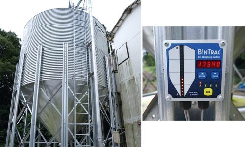 飼料タンクの重量で餌の残量を計測