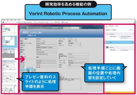 図 RPAツールが備える、開発や運用の支援機能の例(その1)