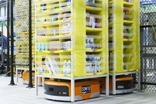 アマゾンが活用する自動搬送システム「Amazon Robotics」