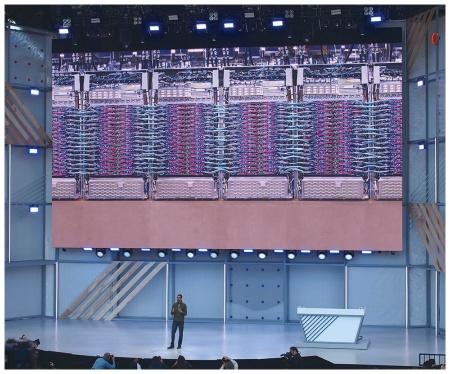 図 AIチップに参入する米グーグルと米アマゾン・ウェブ・サービス