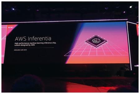 米アマゾン・ウェブ・サービスによる「AWS Inferentia」の発表風景