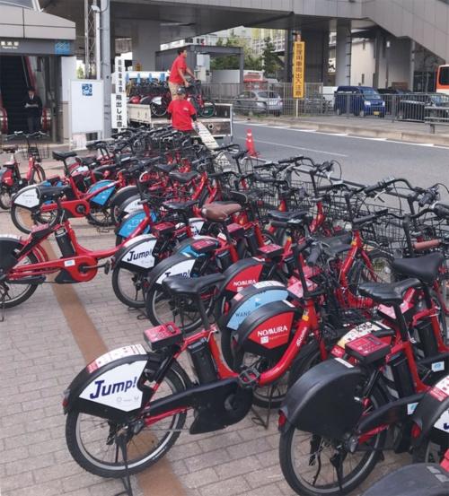 図 ドコモ・バイクシェアの貸し出し拠点における再配置作業