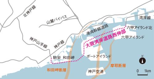 図1■ 2カ所の海上部に巨大斜張橋を建設