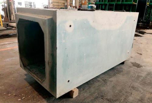 写真1■ 環境配慮コンクリートを用いたボックスカルバート(写真:大成建設)