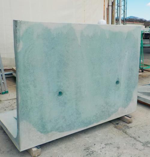 写真2■ 環境配慮コンクリートで造ったL形擁壁(写真:大成建設)