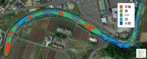 図1■ 水深や流速などを用いて瀬と淵を分析