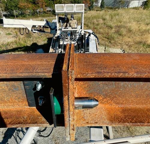 写真2■ 大成建設が開発した「ワンタッチ式継ぎ手ボルト」(写真:大成建設)