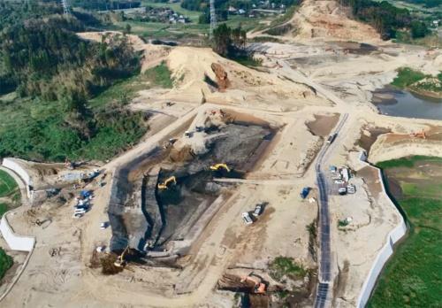 写真1■ JRC再生土が使われている千葉県茂原市の大規模宅地造成現場。総開発面積は27ヘクタールだ(写真:KSJ)