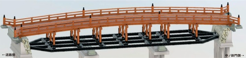 図1 ■ 擬宝珠橋の3次元図