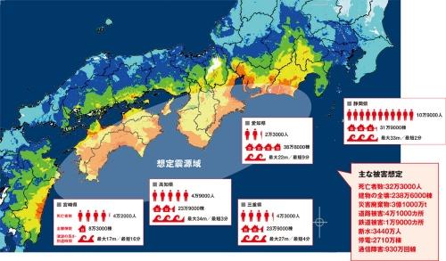 図1 ■ 南海トラフ地震の被害想定