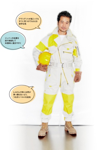 写真1■ 専用の作業服に身を包む「DREAMS COME TRUE」の中村正人氏(写真:原田)