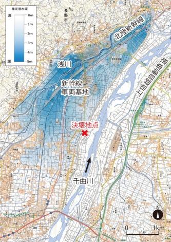 図1■ 千曲川の氾濫で広範囲が浸水