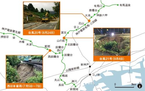 図1■ 豪雨災害が3連続で発生