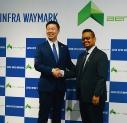 <b>鉄塔など</b>:NTT西日本が立ち上げたジャパン・インフラ・ウェイマークはマレーシアのドローン点検企業と提携。NTTドコモやソフトバンクなどもドローンサービス事業を本格化する(写真:日経コンストラクション)