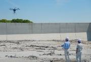 <b>砂防施設</b>:砂防施設において、ドローンによる点検マニュアルの作成に向けた実証実験が進む(写真:国土交通省雲仙復興事務所)