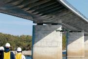 <b>道路橋</b>:岐阜県各務原市は岐阜大学と共同で実証実験を進めてきた(写真:岐阜大学)