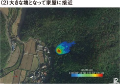 図1■ 平均時速46kmの土石流発生