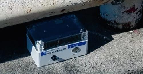 写真1■ 装置は橋の歩道や車道脇に設置する(写真:TTES)