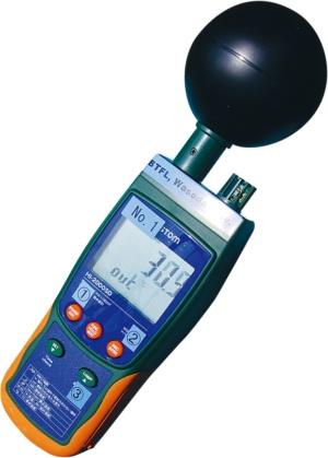 写真5■ WBGT計で温熱環境を計測した(写真:日経クロステック)