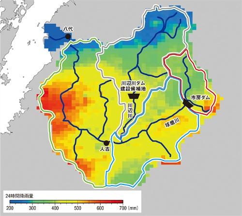 図1■ 球磨川全域で大量の降雨