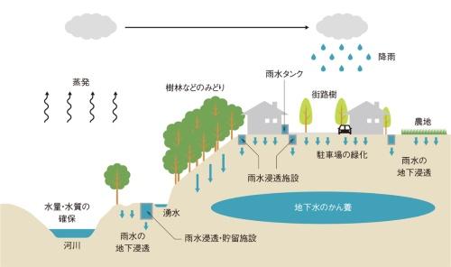 図1■ 湧水や地下水などの保全で水循環を回復