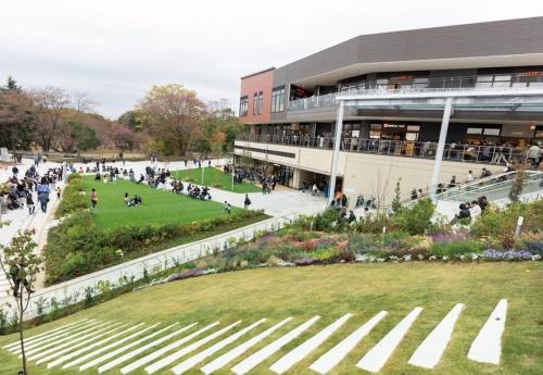 写真1■ 商業施設と公園の融合ゾーン(写真:町田市・東急)