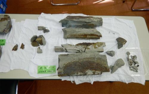 写真2■ 南側の支承で壊れたローラー。割れた面には腐食が広がっており、以前からひび割れが進行していたと分かる(写真:舞鶴市)