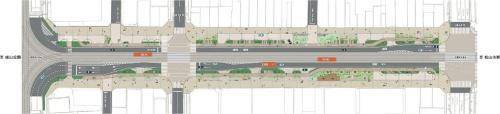 図1■ 花園町通りの平面図