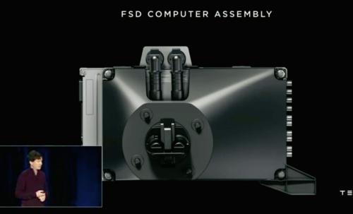 図1 完全自動運転向け車載コンピューター「FSD」