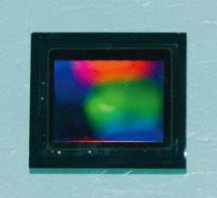米ON Semiconductorが開発中の1200万画素の車載CMOSセンサー(撮影:日経Automotive、以下同)