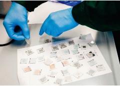 変換効率18.4%を実現した研究室のOPVの試作例(写真:KTU)