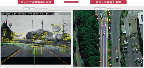 図2 車載カメラで撮影した映像を基に地図データを生成
