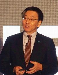 図1 基調講演に登壇した東芝メモリの大島氏