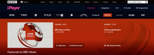 図1 テレビ放送のネット配信で先行するBBC