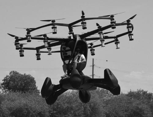 図2 1人乗りのeVTOL機が軍施設で有人飛行デモ