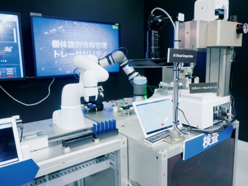 図2 ロボット自動化ラインのデモ