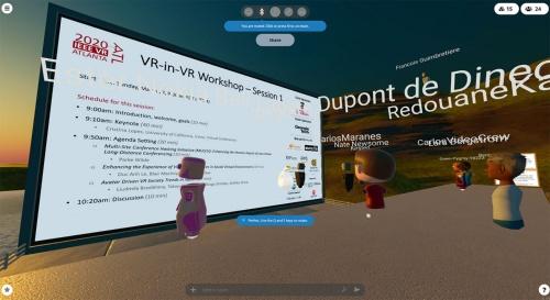 図2 VR空間で開かれた国際学会