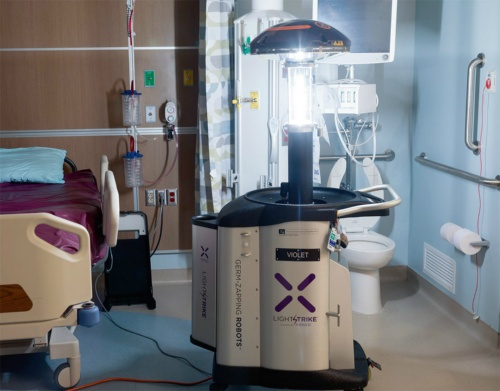 図1 需要が急増している殺菌消毒ロボット