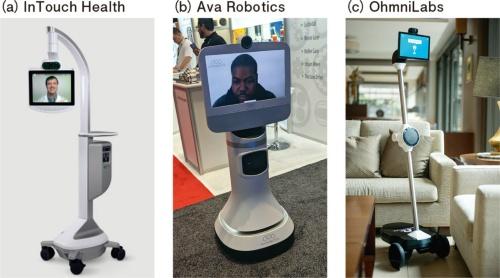図2 医療、ビジネス、家庭に広がるテレプレゼンスロボット